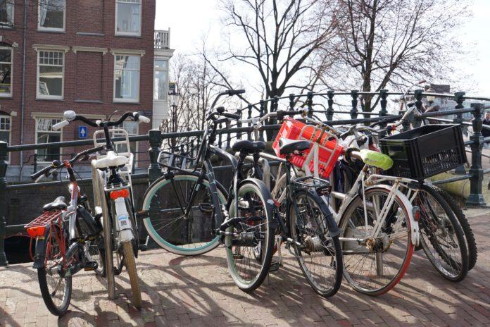 Begin van de lente in Amsterdam