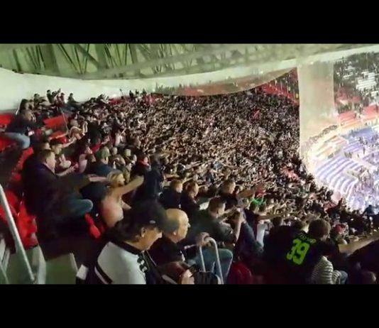 Filmpje: ontlading uitvak tijdens halve finale Lyon - Ajax