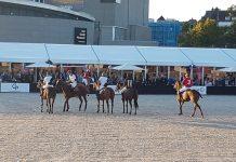 Anky van Grunsven en IJsbrand Chardon draven op tijdens Poloweekend Museumplein