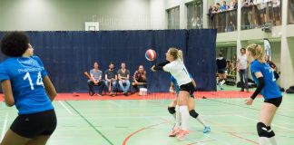 In beeld: Topdivisie volleybal wedstrijd Pharmafilter US dames - vv Alterno