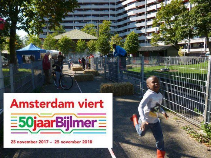 Feest bij kinderboerderij de Gliphoeve tijdens viering 50 jaar Bijlmer