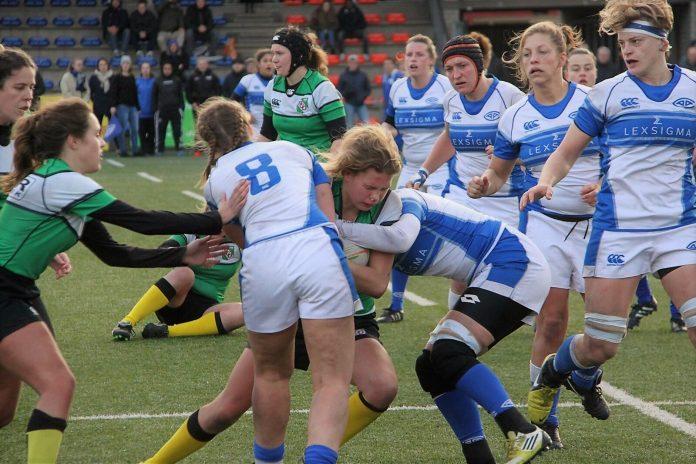 Rugbydames AAC weer alleen koploper na winst op Delft