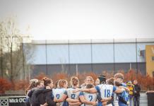 Kraker voor AAC Rugby in de kampioenspoule van de Ereklasse