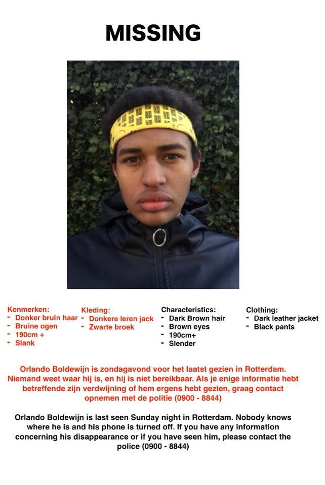 Orlando (17) uit Rotterdam vermist