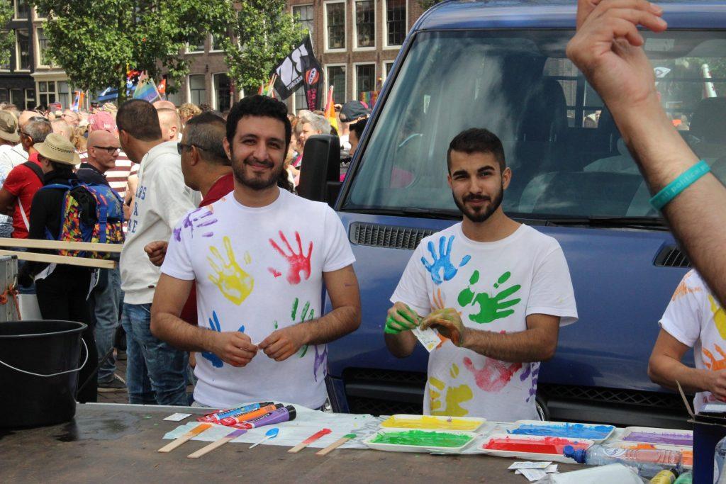 Pride Amsterdam 2017. Iraanse deelnemers. Photo: JoopeA