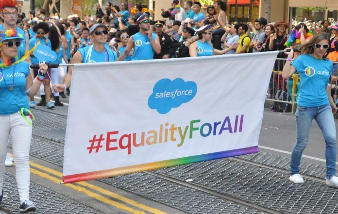 Wereldwijd doet Salesforce mee aan 27 prides in 2018