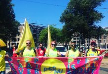 PrepNu warriors lopen mee tijdens protestmars