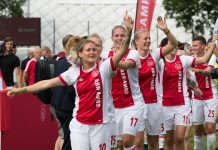 Voetbalvrouwen Ajax plaatsen zich voor Champions League