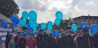 Hoop prominenten Amsterdamse gracht in tijdens Amsterdam City Swim