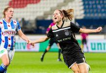Jansen helpt Ajax Vrouwen op valreep aan punt