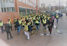 Actievoerders in gele hesjes protesteerden in Amsterdam: 'genoeg is genoeg'
