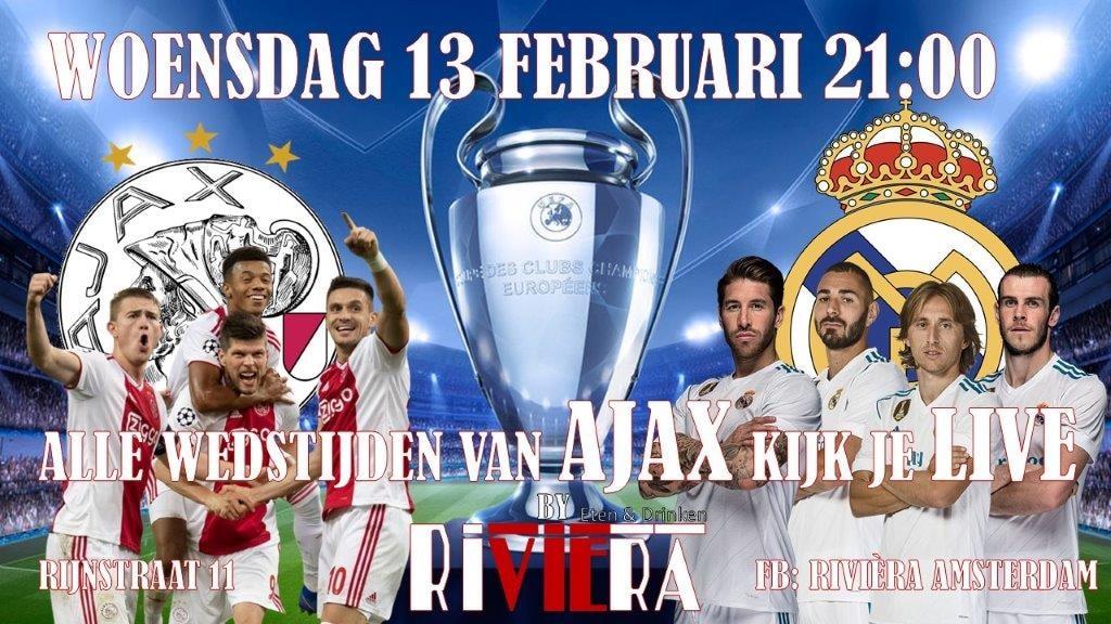 24 x Ajax – Real Madrid kijken op groot scherm