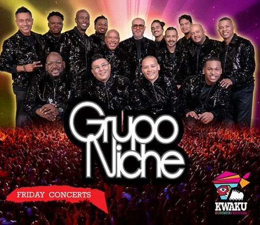 Salsa sensatie Grupo Niche naar Kwaku 2019