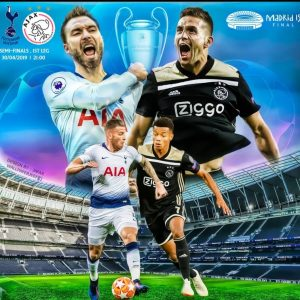 Tottenham - Ajax kijken op groot scherm in Amsterdam