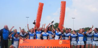 Rugbydames AAC veroveren landstitel na winst op RC Delft