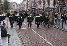 VTA wandelde mee met PAOK Saloniki fans in Amsterdam