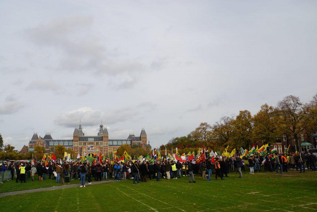 Demonstratie Koerden in Amsterdam