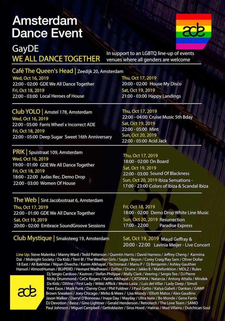 LHBTQIA primeur tijdens Amsterdam Dance Event 2019