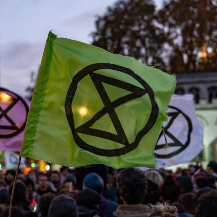 LEDEN EXTINCTION REBELLION IN HONGERSTAKING VOOR BETER KLIMAAT