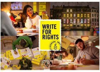 Amnesty schrijft wereldwijd voor jongeren tijdens Write for Rights 2019