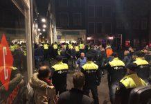 Protest Utrecht-fans tegen Gemeente Amsterdam