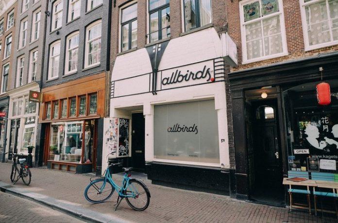 Allbirds opent eerste winkel in Amsterdam
