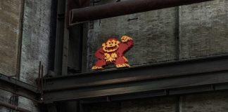 Donkey Kong van Streetart Frankey verschuilt zich in de levels van nieuw straatkunstmuseum STRAAT