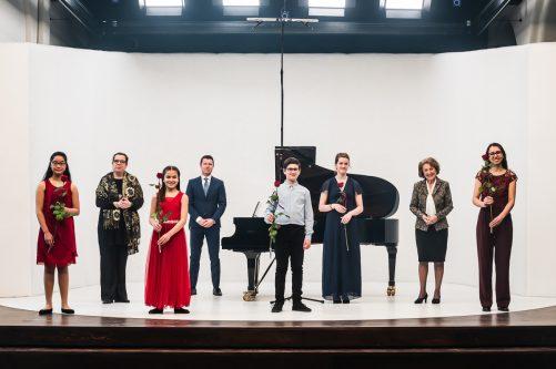 4 eerste prijswinnaars bij Nationale Finale Prinses Christina Klassiek Concours