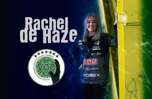VOC Amsterdam verlengt contract Rachel de Haze met 2 jaar