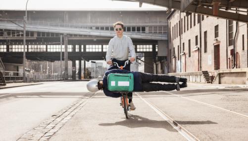 FREITAG ontwerpt tas voor Brompton-vouwfiets