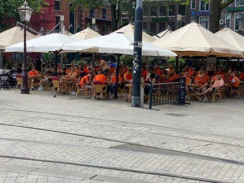 EK-wedstrijden toegestaan op terrassen in Amsterdam
