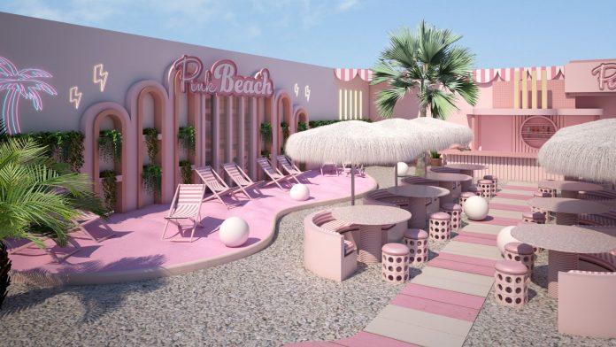 Openlucht bar Pink Beach by WONDR opent haar deuren in Amsterdam met roze strand en ballenbak voor volwassenen